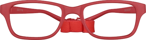 Red Kids' Flexible Rectangle Glasses