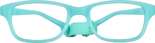 Turquoise Kids' Flexible Rectangle Glasses