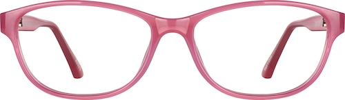 Pink Kids' Rectangle Glasses