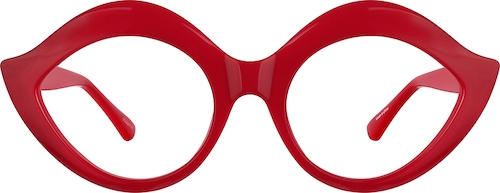 Red Lip-Shaped Glasses