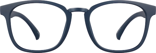 Navy Square Glasses