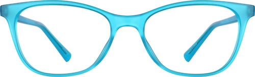 Turquoise Blue Cat-Eye Glasses