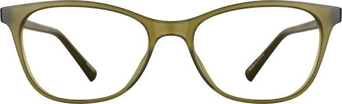 Dark Olive  Cat-Eye Glasses