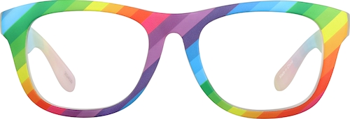 Rainbow Square Glasses