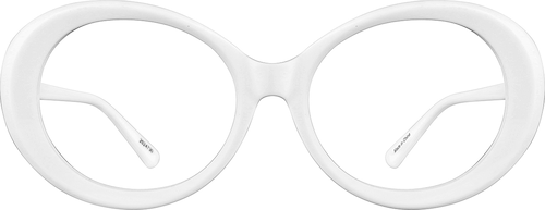 White Oval Glasses
