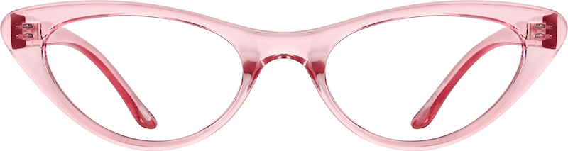 Pink Cat-Eye Glasses front-view