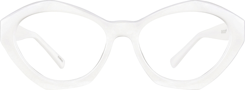 White Geometric Glasses