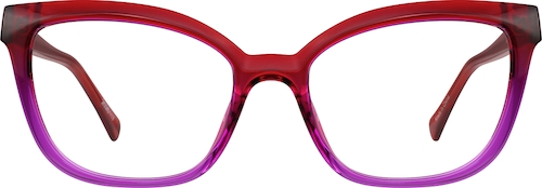 Fuchsia Cat-Eye Glasses