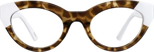 Amber Tortoiseshell Cat-Eye Glasses
