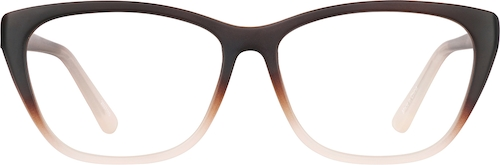Mocha Rectangle Glasses