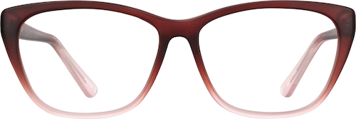 Raspberry Rectangle Glasses