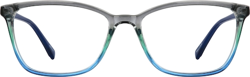 Deep Sea Rectangle Glasses
