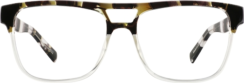 Brown Stripe Square Glasses