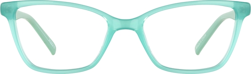 Aquamarine Kids' Rectangle Glasses