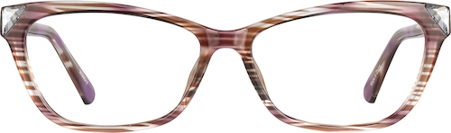 Brown Stripe Cat-Eye Glasses