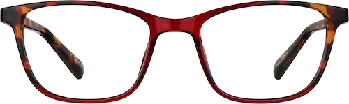 Red Rectangle Glasses