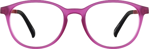 Raspberry Kids' Oval Glasses