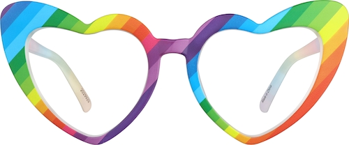 Rainbow Heart-Shaped Glasses
