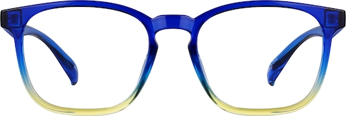 Cobalt Square Glasses