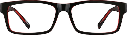 Black Cherry Rectangle Glasses