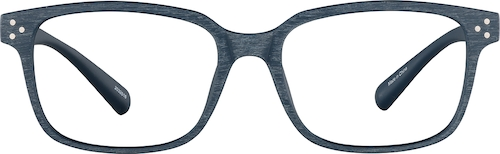 Blue Mesquite Rectangle Glasses
