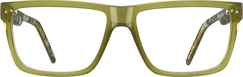 Green Rectangle Glasses