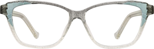 Gray Glitter Cat-Eye Glasses
