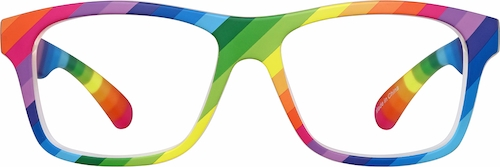 Rainbow Kids' Square Glasses