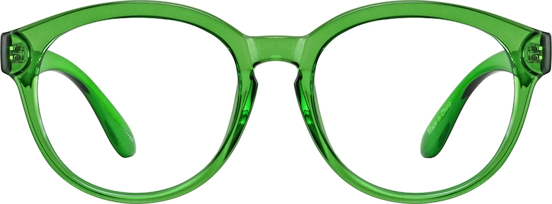 Green Flexible Plastic Full-Rim Frame #206024