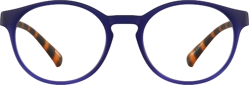 Navy Round Glasses