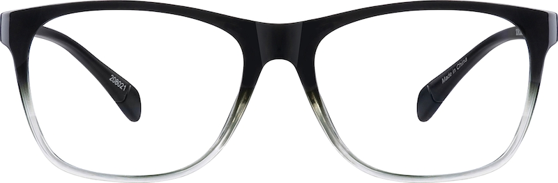 Black Ombre Square Eyeglasses #208021