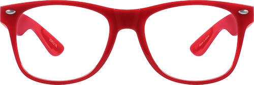 Red Kids' Square Glasses