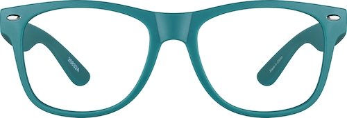 Teal Kids' Square Glasses