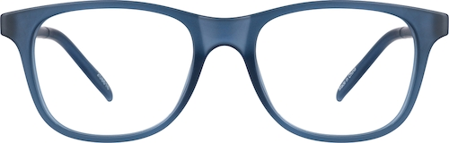 Navy Kids' Square Glasses