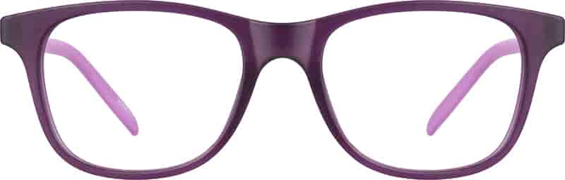 Purple Kids' Square Glasses