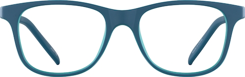 Blue Kid's Square Glasses