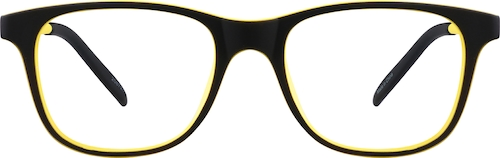Black Kid's Square Glasses