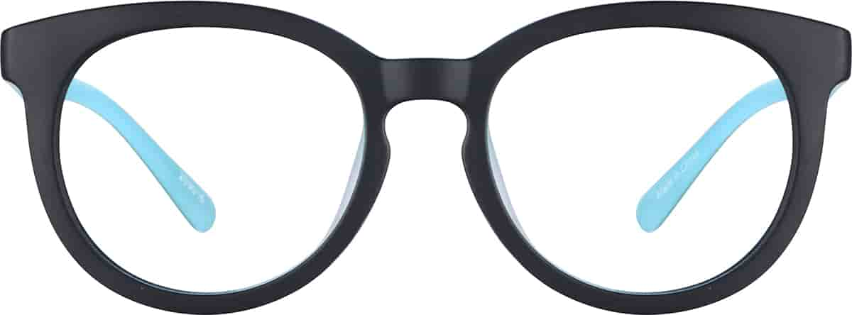 Blue Kids' Round Glasses
