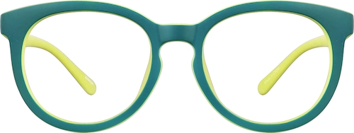 Teal Kids' Round Glasses