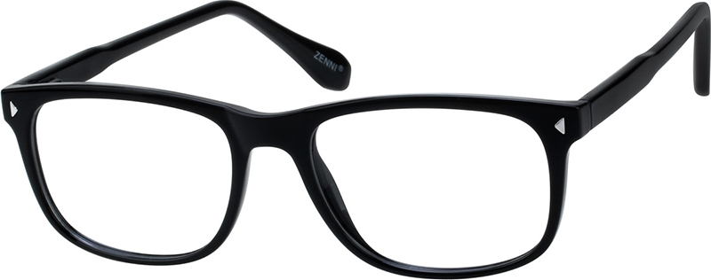 3334d53a7a4 Black Rectangle Glasses  209321