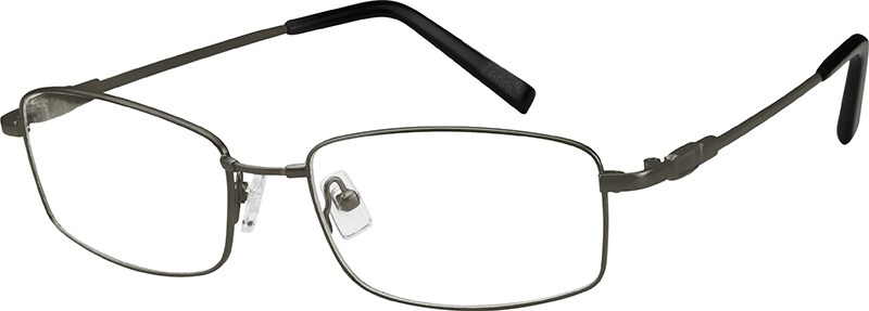 Gray Bendable (Memory) Titanium Full-Rim Frame #211112
