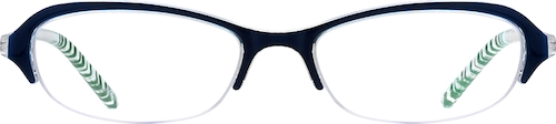Blue Oval Glasses