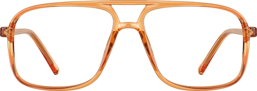 Orange Aviator Glasses