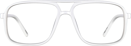 White Aviator Glasses