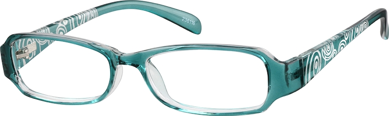 Blue Rectangle Glasses angle-view