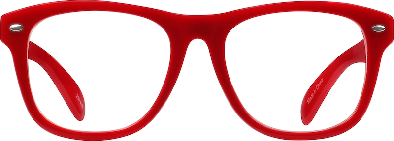 Red Oversized Square Eyeglasses & Sunglasses #237418