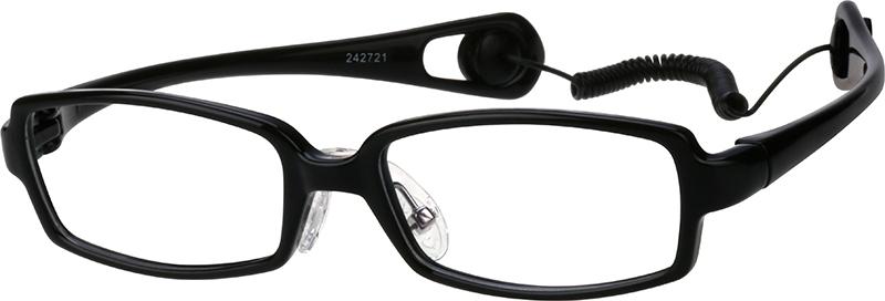 0d77a45cb7f95 Black Kids  Rectangle Glasses  242721