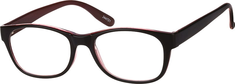 322788f5406 Rectangle Glasses 244721. Previous. sku-244721 eyeglasses angle view ...