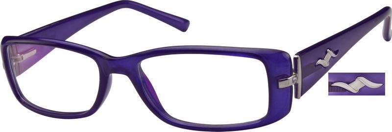 5847010fe3f4 Purple Rectangle Glasses  256617