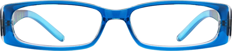 Blue Rectangle Glasses front-view